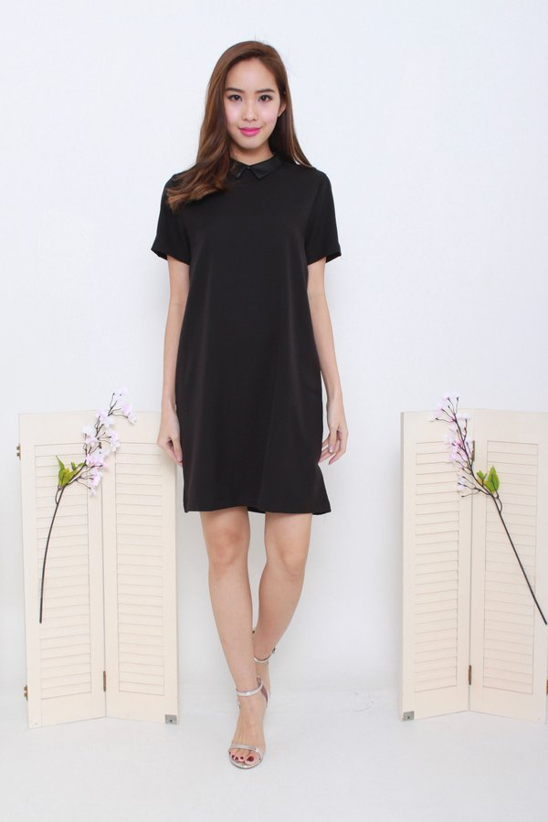 *BACKORDER* Tough Luxe Leather Collar Dress