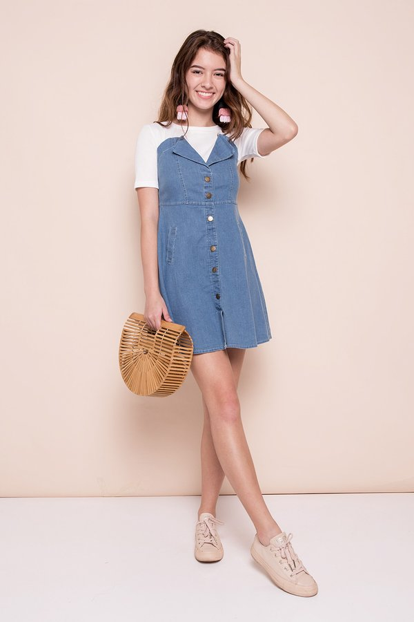*RESTOCKED* Denim Disposition Knit Tee Dress