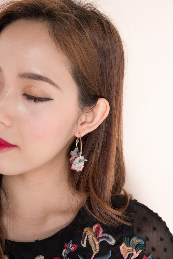 Petals Aflutter Hoop Earrings Fall Mutes