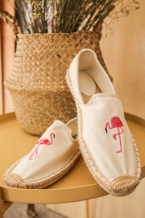 Flamingo Slipon Canvas Espadrilles Flats