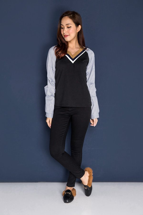 Proudly Preppy Top Black