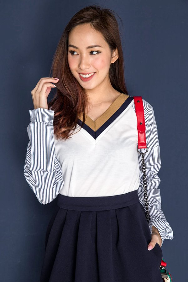 Proudly Preppy Top White