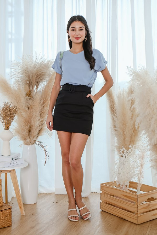 Trim and Proper Belted Skorts Black