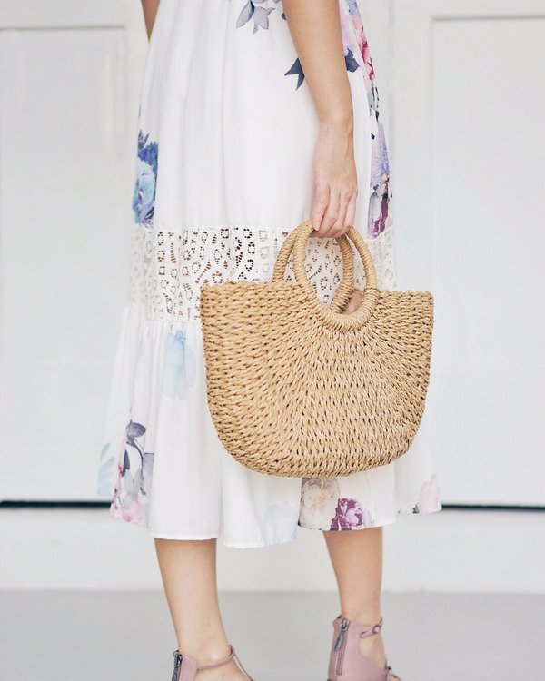 Down to Earth Rattan Tote Bag