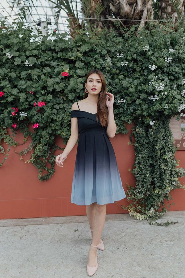 Ombre Contours Dress Smoke