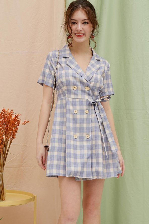 Coup De Checks Button Blazer Dress