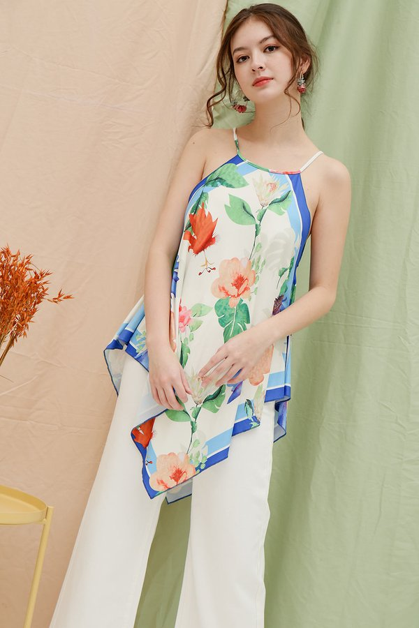 Paint in Watercolour Floral Handkerchief Top