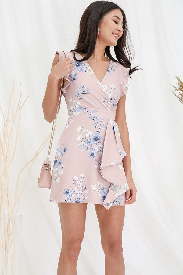 Wearable Floral Art Origami Dress Blush Pink