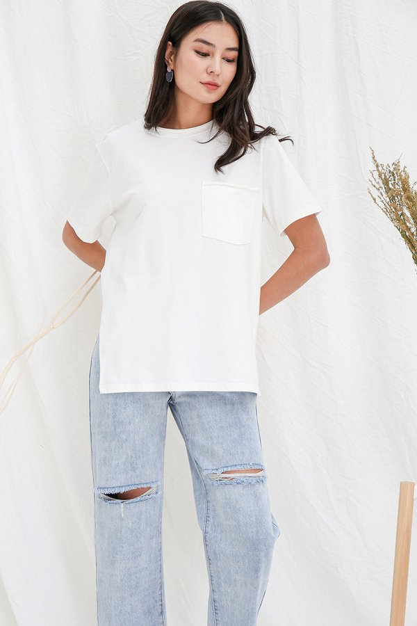 Basic Effortless Ease Slouchy Tee White