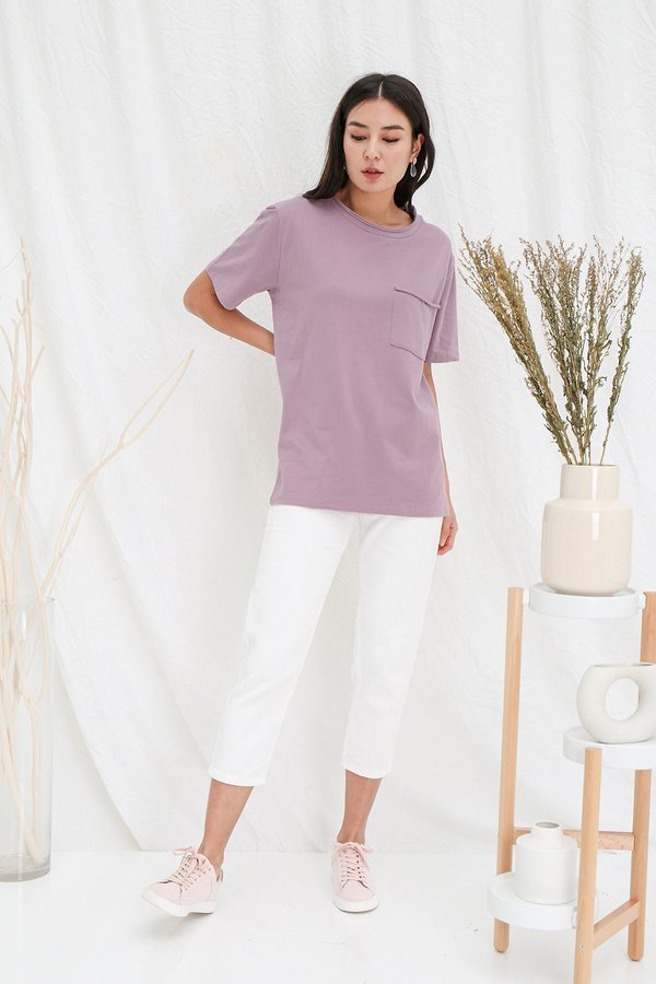 Basic Effortless Ease Slouchy Tee Mauve Pink