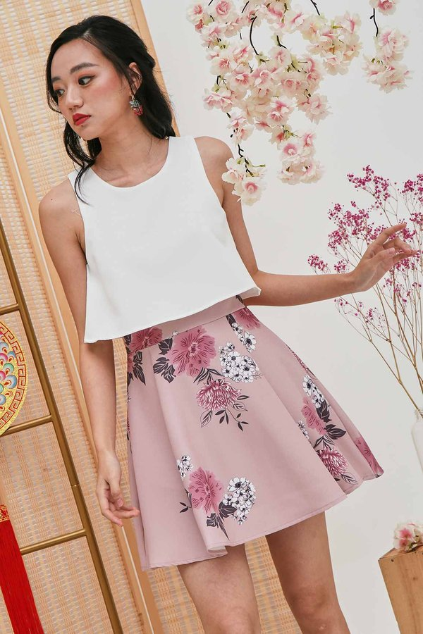 Spring Overlay Laurels Dress Pink