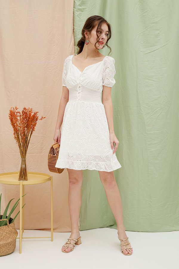 Milkmaid Maiden Eyelet Embroidery Dress