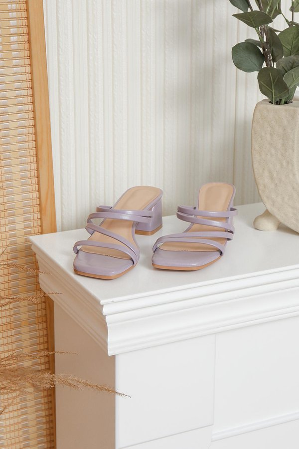 Heightened Security Strappy Heels Lilac