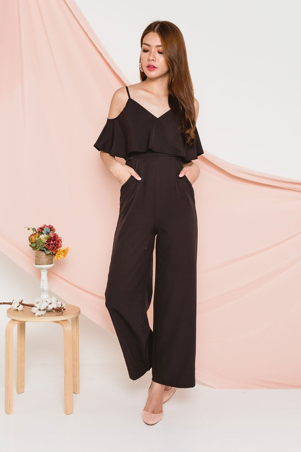 Languidly Lethal Jumpsuit Black