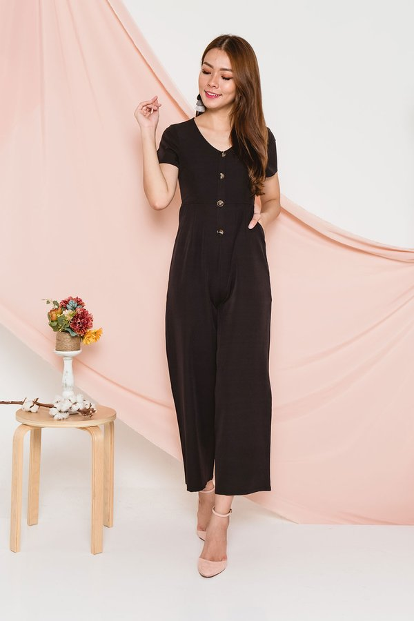 Bonafide Buttons Jumpsuit Black