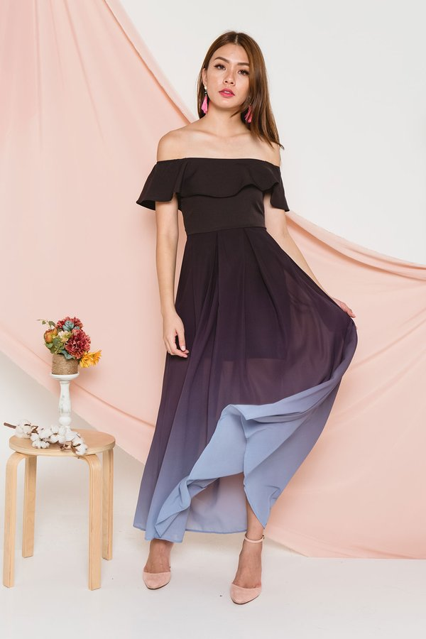 Ombre Ode Maxi Dress Smoke