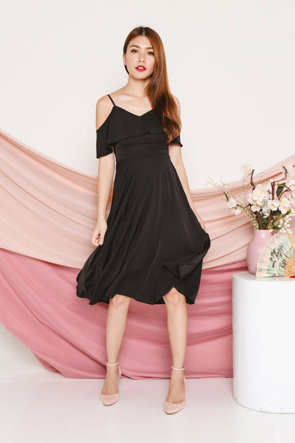 Languidly Lethal Cutout Dress Black