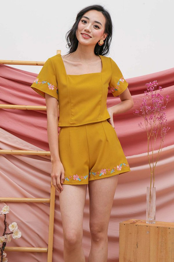 Embroidery Play Two Piece Set Marigold