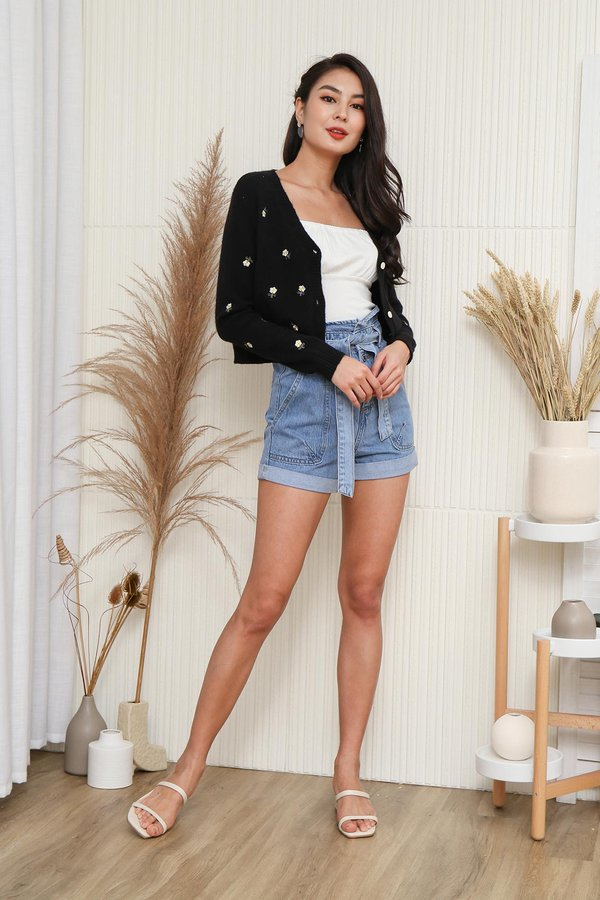Daisies in the Sun Embroidery Knit Cardigan