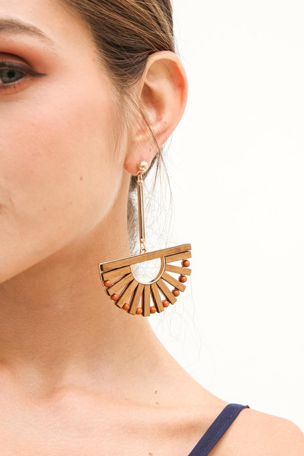 Scandi Ark Long Drop Chandelier Earrings