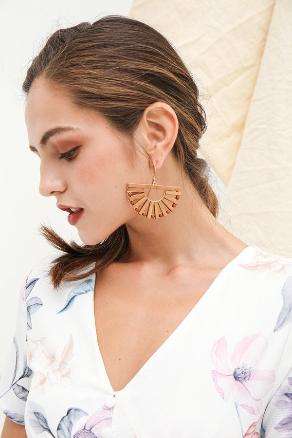 Scandi Ark Short Hook Earrings