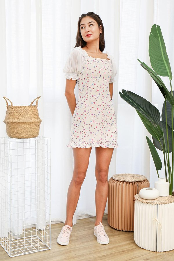 Puffed Phenomenon Floral Dress