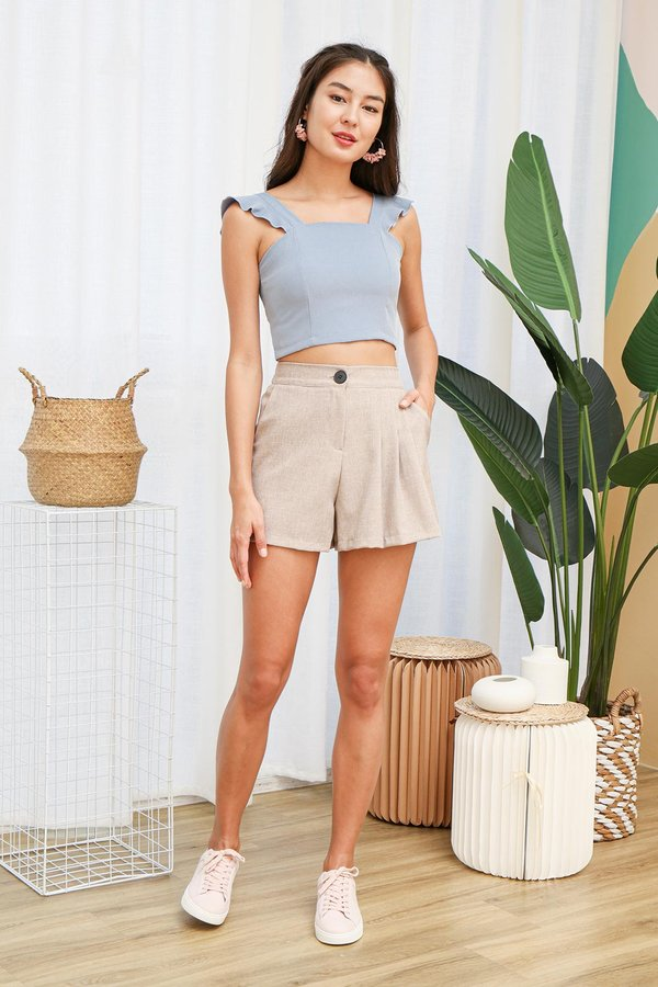 Cradled in Comfort Crop Top Blue