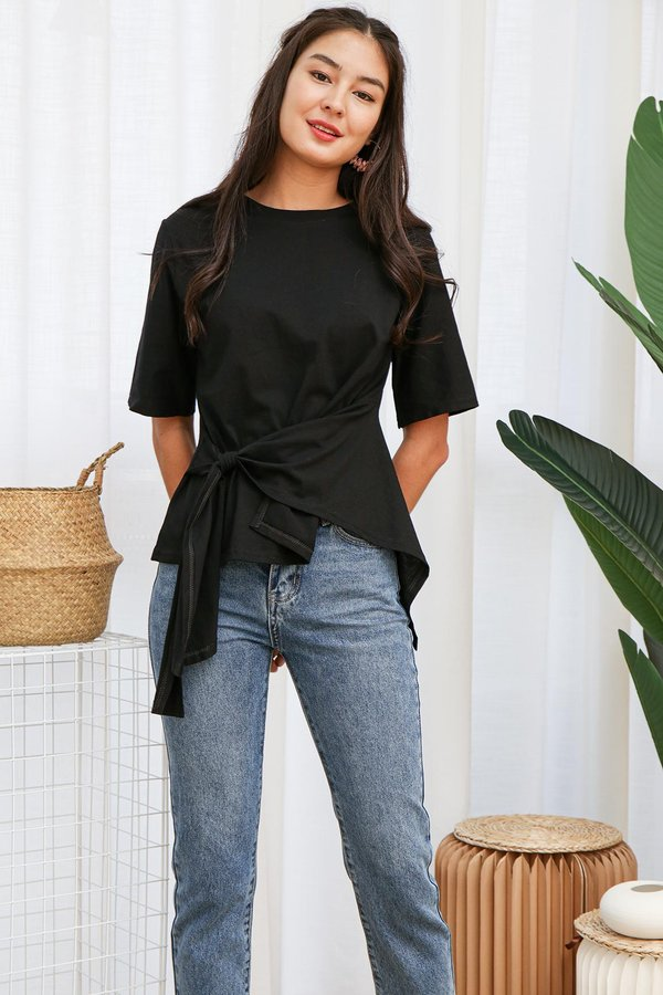Utter Knotted Comfort Tee Black