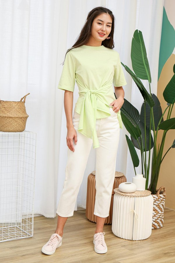 Utter Knotted Comfort Tee Apple Green