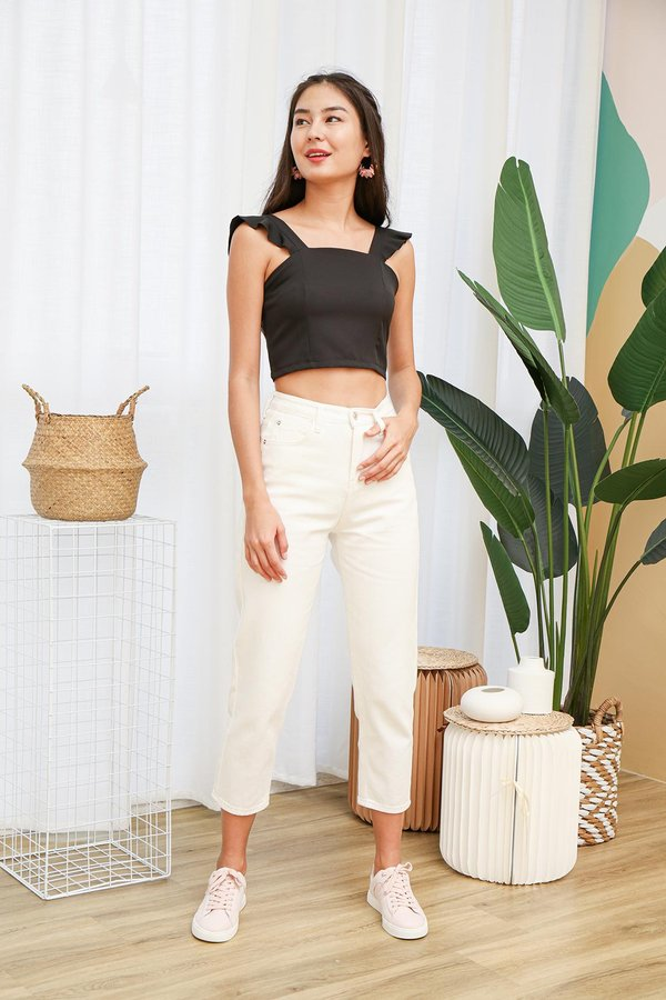 Cradled in Comfort Crop Top Black