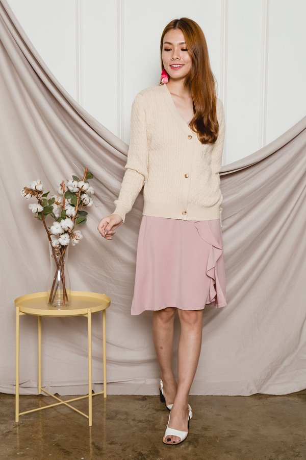Close to Comfort Cable Knit Cardigan Cream