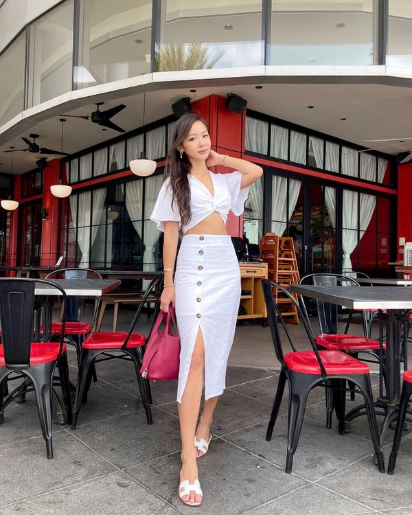 A Lesson in Luxe Linen Two Piece Set White