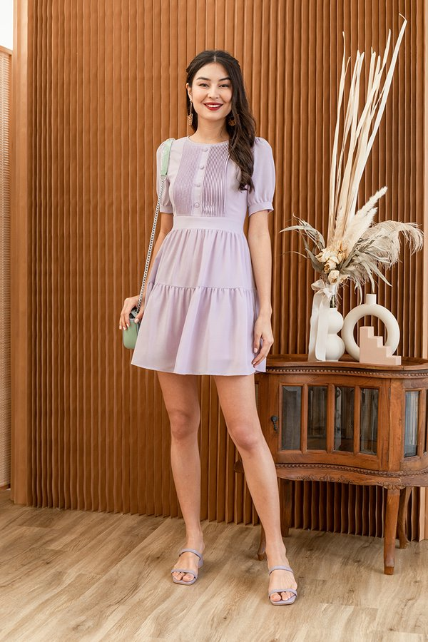 One Moment, Pleats Tier Dress Lilac